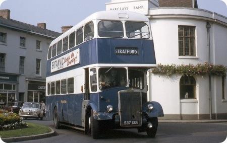 stratford blue bus